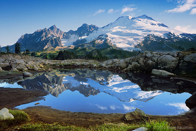 Mount Baker reflection in alpine pond