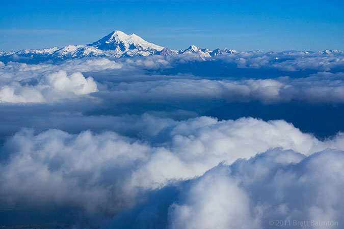 Mount Baker above the clouds
